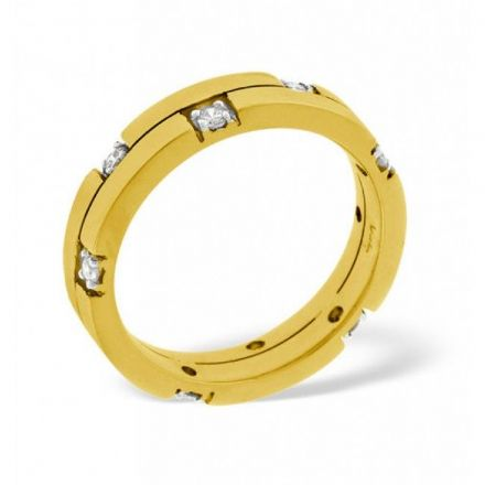 18K Gold 0.22ct H/si Diamond Wedding Band, WB12-22HSY
